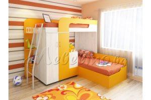 легло на два етажа